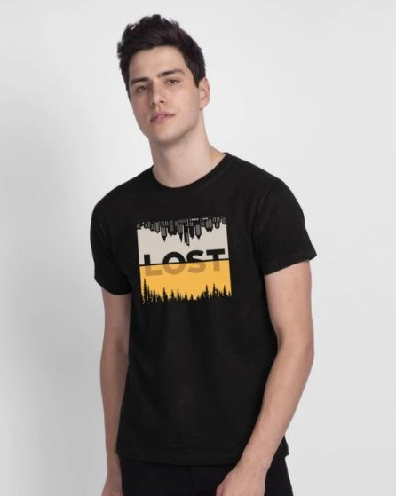 Lost In Time Half Sleeve T-Shirt